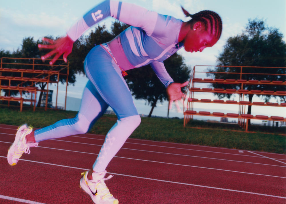 "Caster Semenya in the Nike c/o Virgil Abloh ""Athlete in Progress"" Collection"