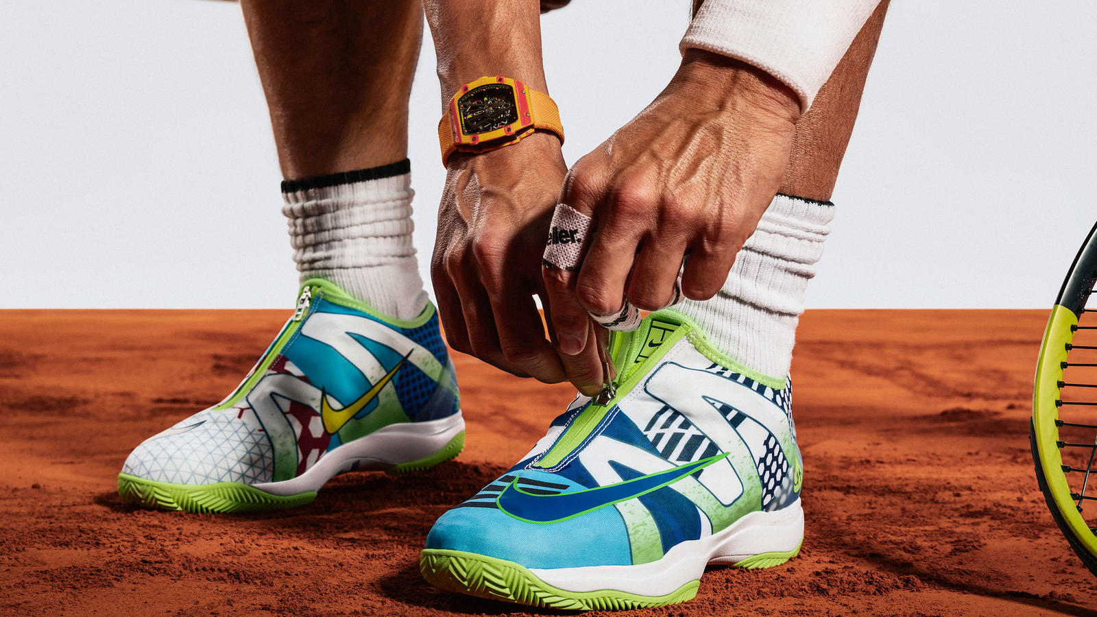 "Frente Hundimiento Lágrimas  NikeCourt Cage 3 Glove ""What The"" Rafa - Nike News"