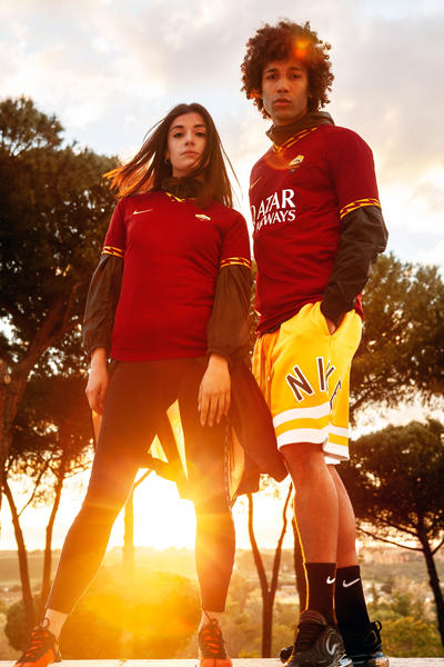 AS Roma 2019-20 Home Kit 3