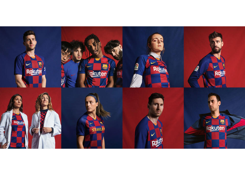 FC Barcelona Salutes Eixample District Grid with 2019-20 Home Kit