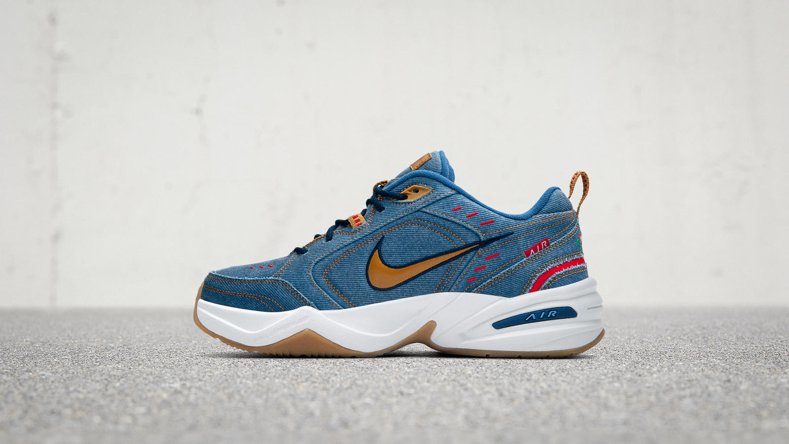 Nike Air Monarch 4 Denim Official Images and Release Date 0