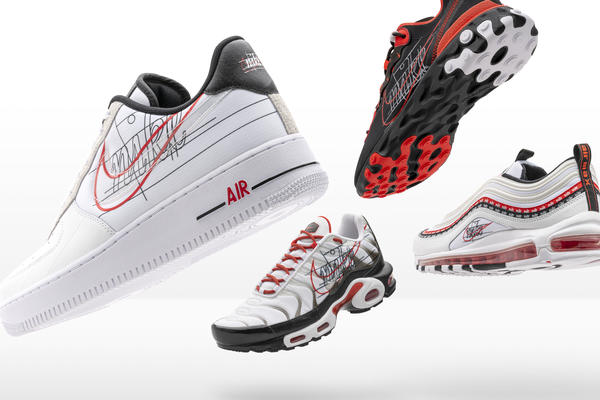 Nike and Foot Locker Inc. Evolution of Swoosh Air Force 1 ...