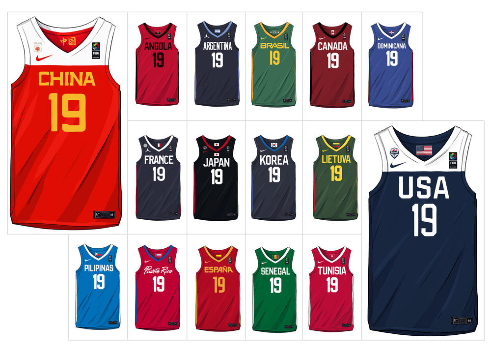 Here are all the Nike and Jordan Brand Basketball Federation Uniforms for 2019