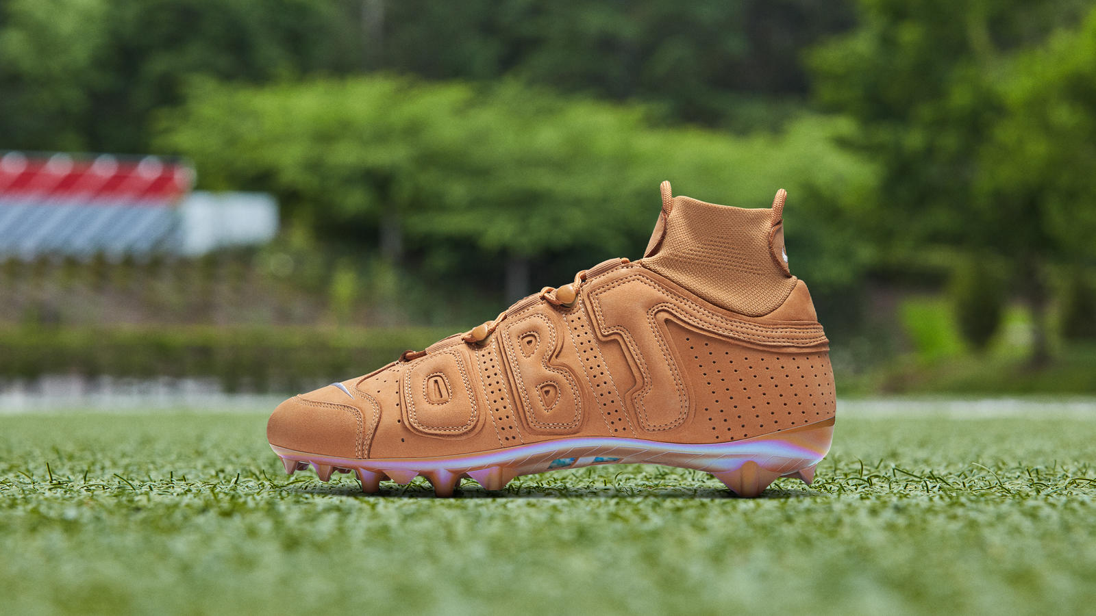 OBJ Week 6 Pregame Cleat AF1 Wheat Colorway 0