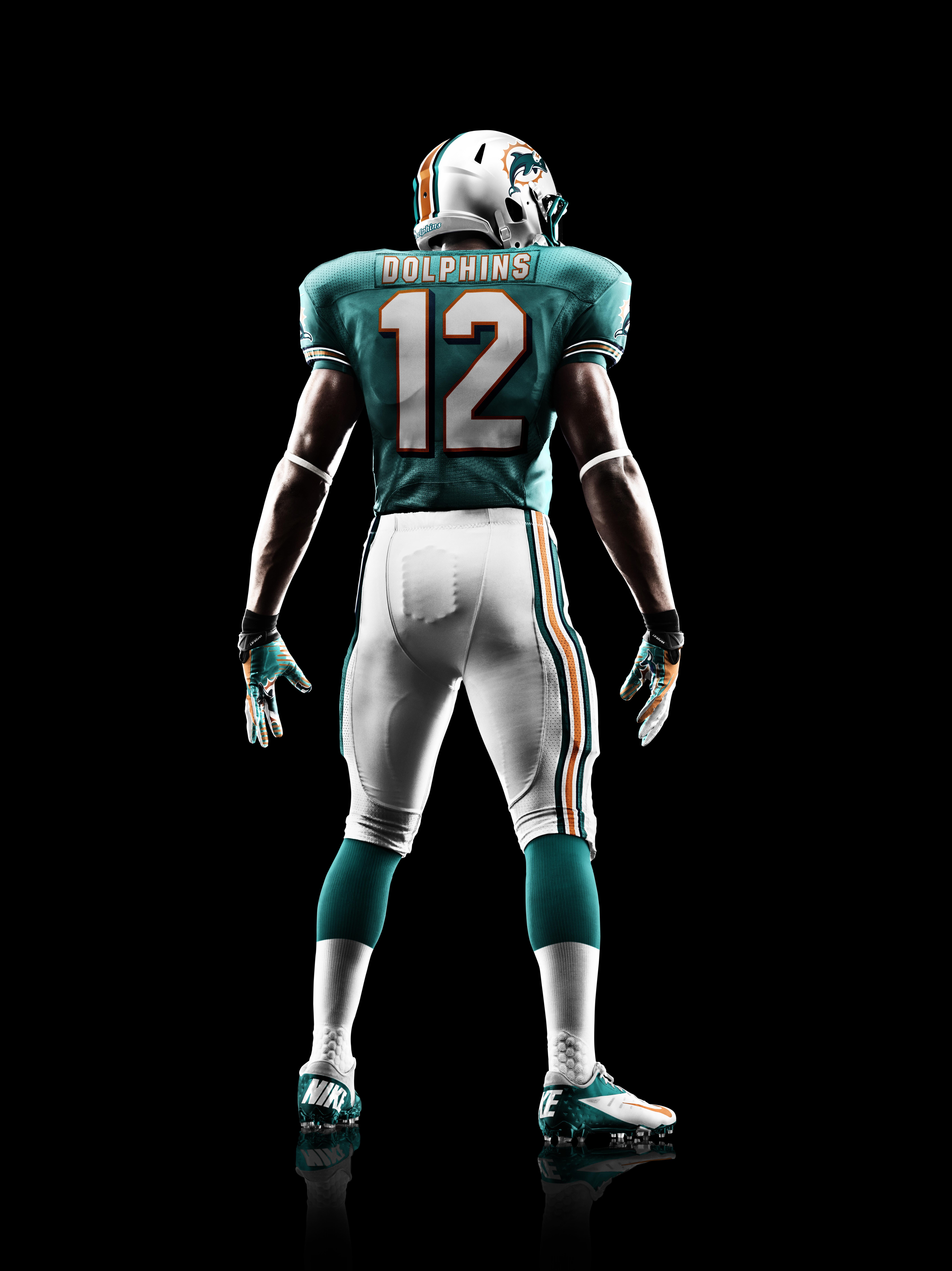 detailed look cb759 7f596 Nike Dolphins #91 Cameron Wake Aqua Green Team Color Men's ...