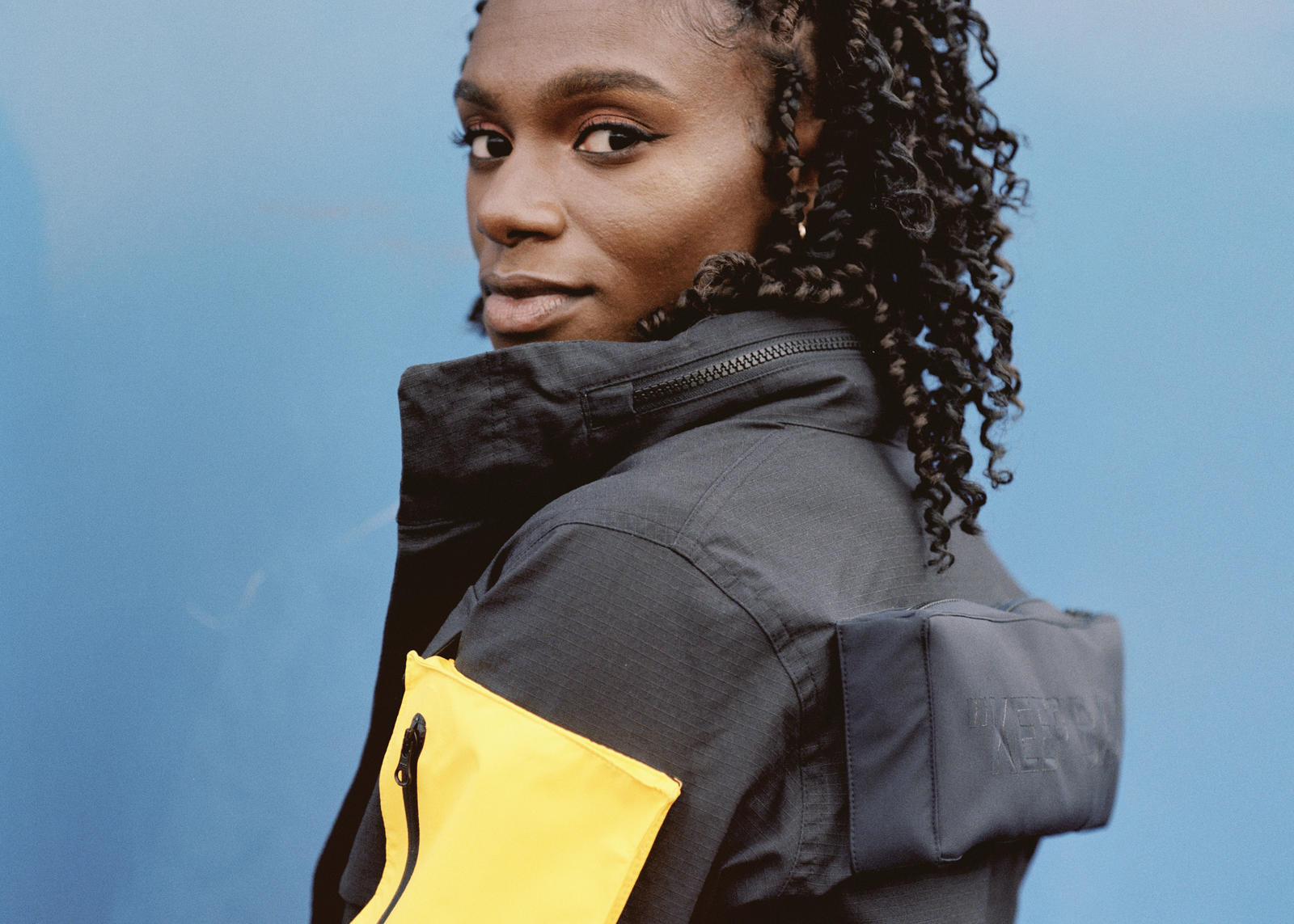 "Dina Asher-Smith in the Nike c/o Virgil Abloh ""Athlete in Progress"" Collection"