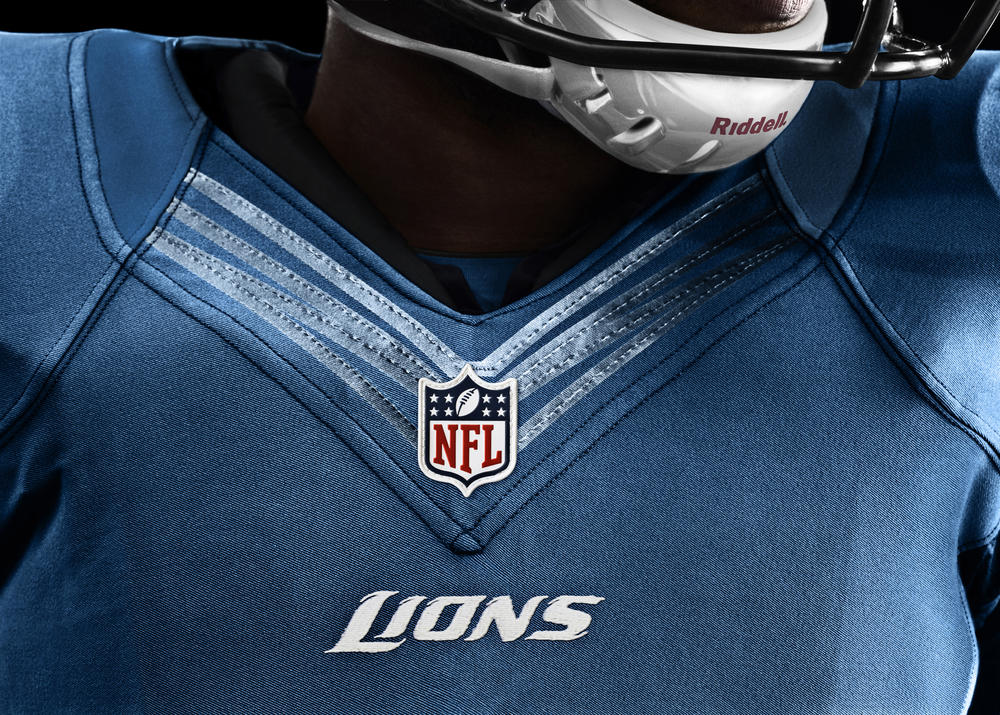 Detroit Lions 2012 Nike Football Uniform