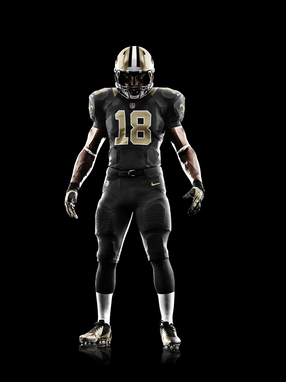 Discount youth 2012 new nfl jerseys new orleans saints customized black jerseys  for sale