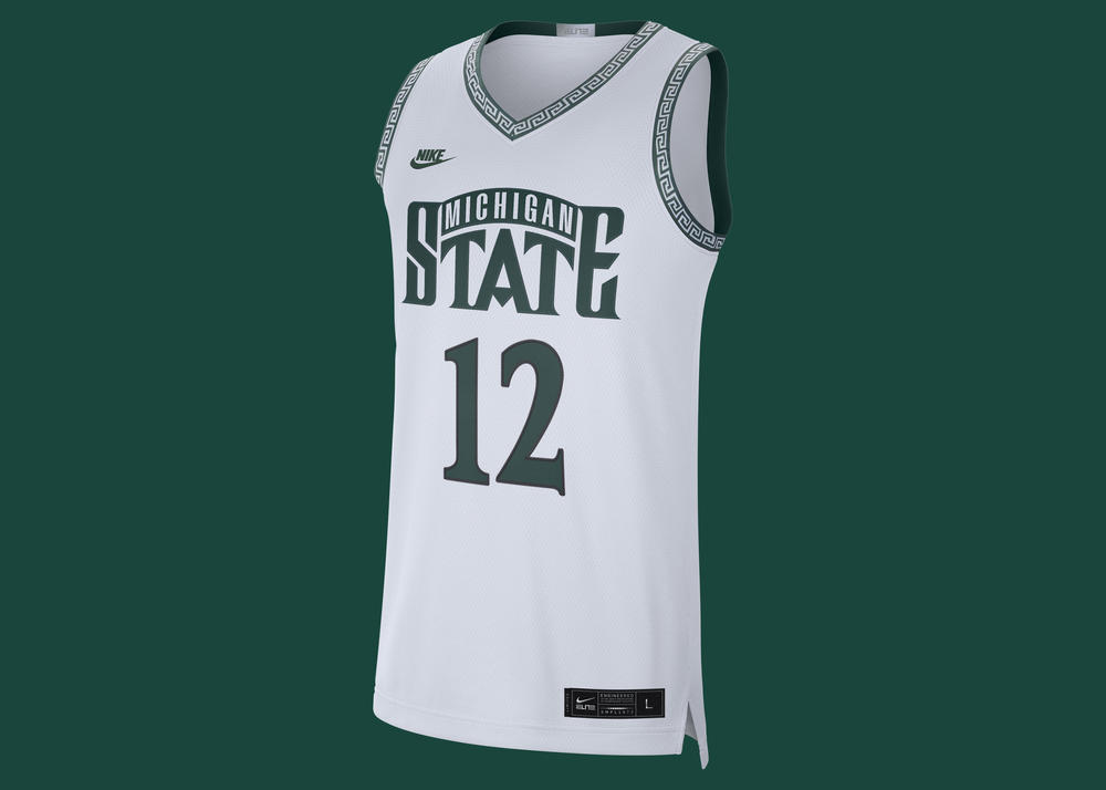 Michigan State Basketball Goes Back to a Greek-Inspired Pattern With Retro Uniforms