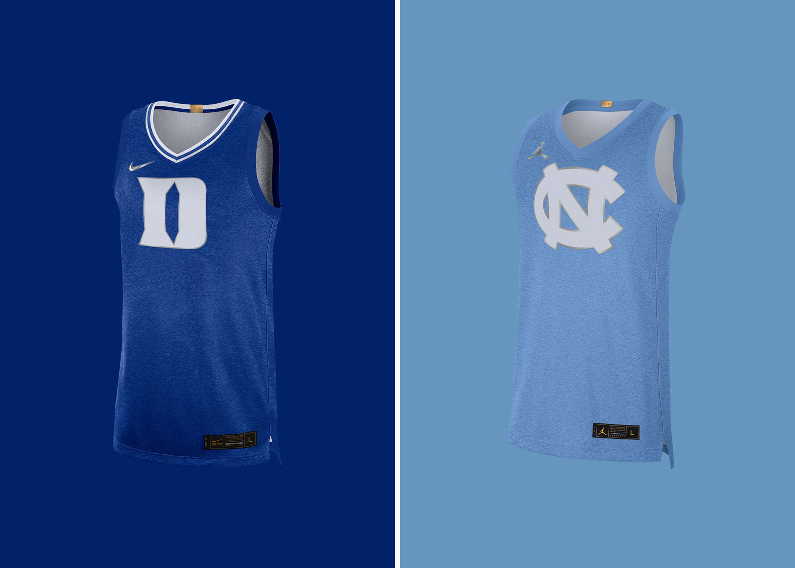 Duke UNC Basketball Rivalry Jerseys Official Images 0
