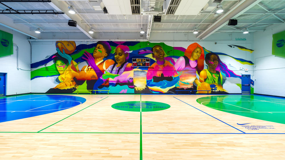 Nike, the Boys & Girls Clubs of Chicago and Virgil Abloh Unveil Redesigned Basketball Facilities