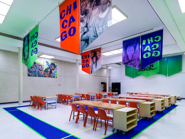 Nike Boys And Girls Clubs of Chicago and Virgil Abloh Basketball Court 1