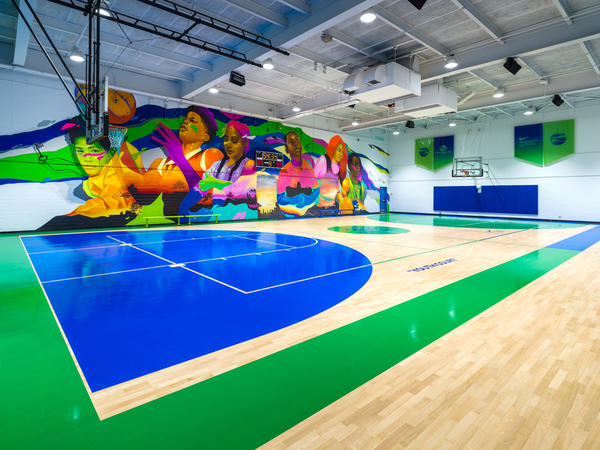 Nike Boys And Girls Clubs of Chicago and Virgil Abloh Basketball Court 2