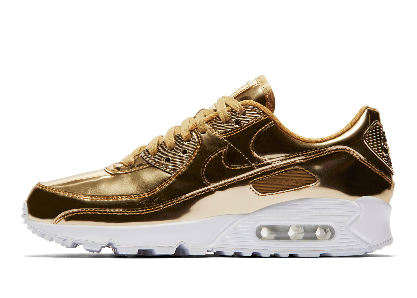 Buy Cheap Nike Air Max 90 Metallic Running Shoes Fake Sale 2020
