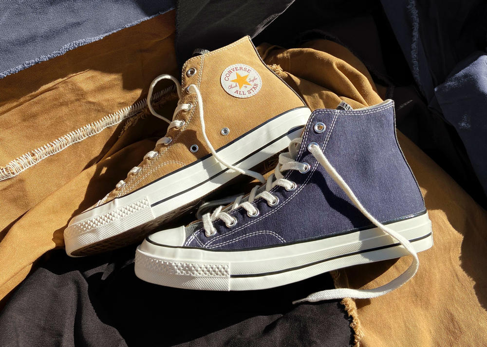 The Converse x Carhartt WIP Renew Chuck 70 Uses Upcycled Work Fabrics