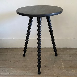 Ebonised Bobbin Table