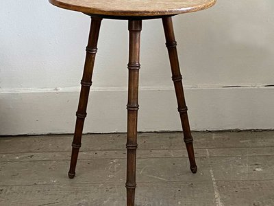 Faux Bamboo Side Table main image
