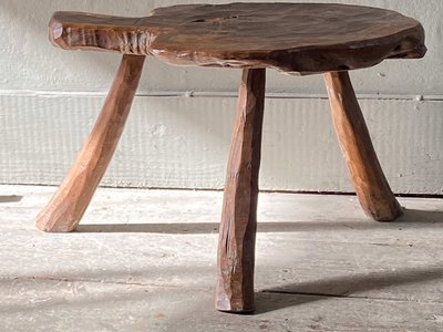 Small Olive Wood Table main image