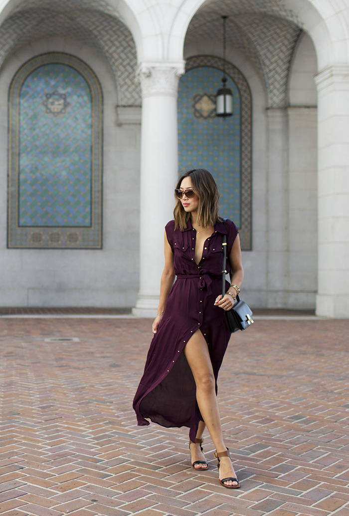 aimee_song_buttoned_down_maxi_skirt_with_a_slit_celine_sandals_