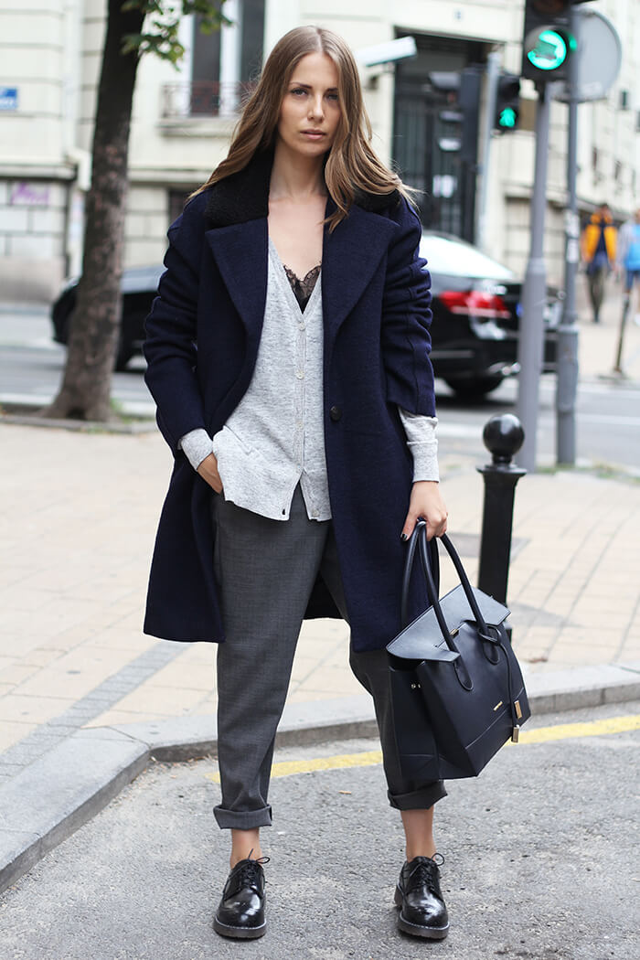 vanja, fashion and style blog, elle serbia workwear, cinti shoes, coccinelle bag, max mara pants, zara cardigan, zara coat