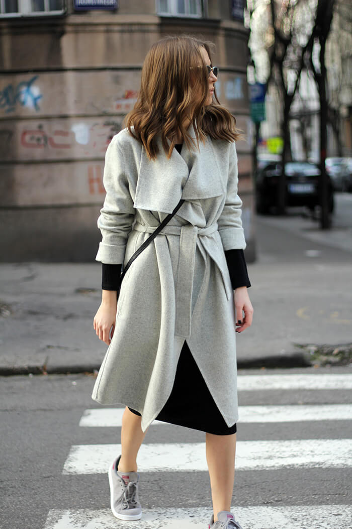 vanja, fashion and style blog, zara coat, adidas stan smith suede sneakers, zara coat, gucci disco bag