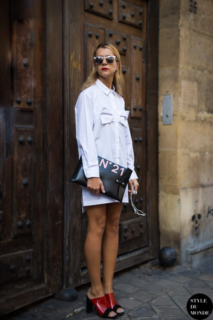 5-statement-sunglasses-with-shirt-dress-and-mules