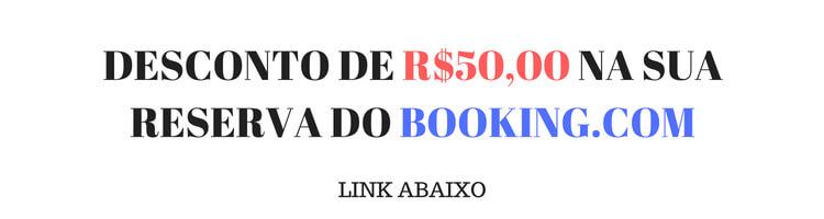 DESCONTO DE R$50,00 NA SUA RESERVA DO BOOKING.COM