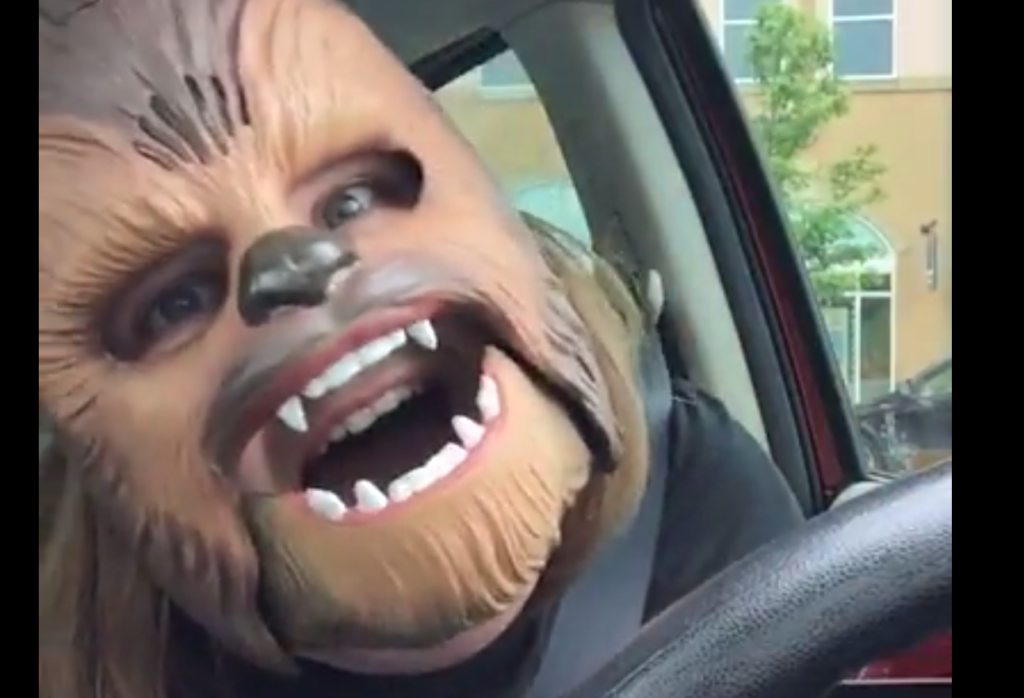 true authenticity from candace payne in her chewbacca mask