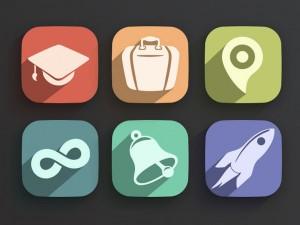 Flat Icons 2.0 - via Web Designer Depot