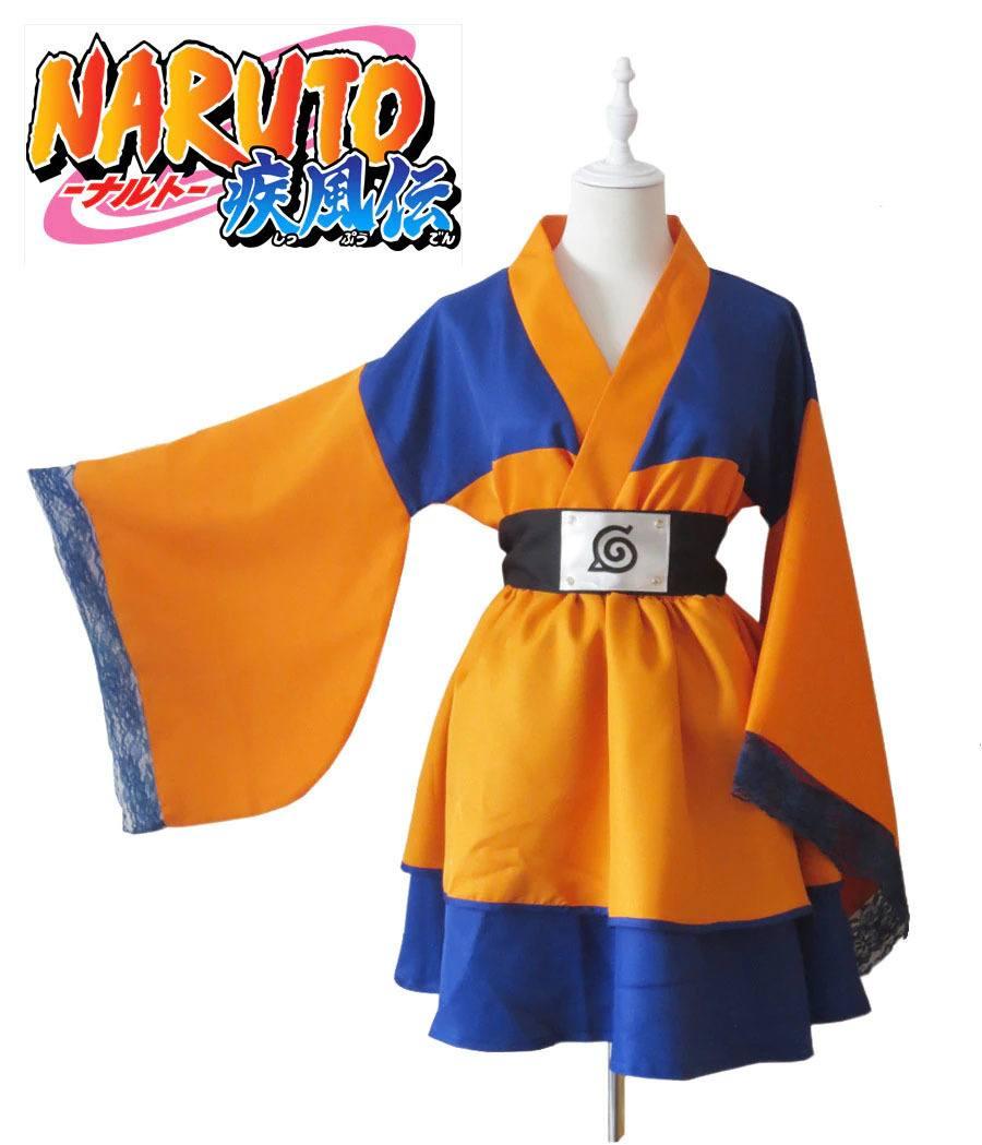 Cosplay Kimono Uzumaki Naruto Lolita - Naruto Primeira Temporada