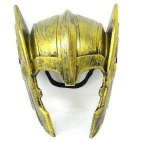 MÁSCARA THOR CAPACETE gladiador dourado