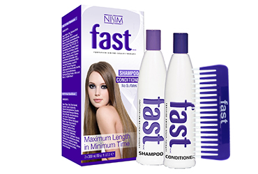 Bundle 2 Items: F.A.S.T 2 Pack 10oz No Sulfates + FAST Wide Tooth Comb