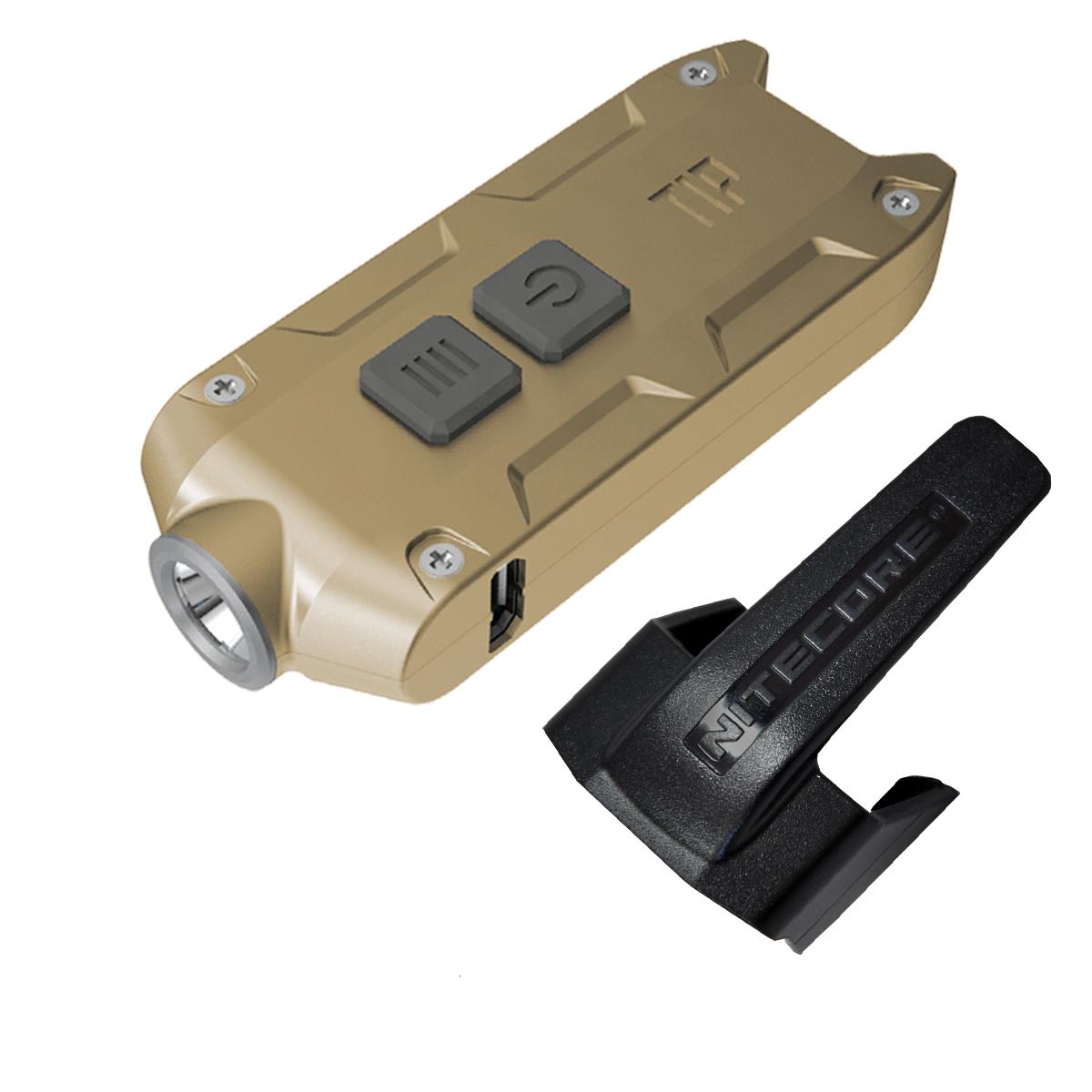 Nitecore Tip 2017 360 Lumen Rechargeable Keychain Flashlight (gold)