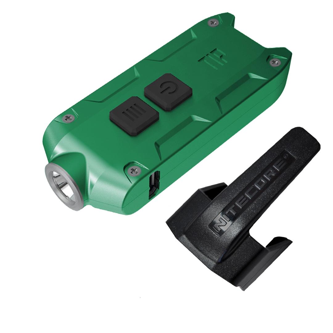 Nitecore Tip 2017 360 Lumen Rechargeable Keychain Flashlight (green)
