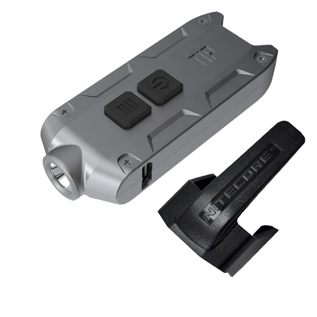 Nitecore Tip 2017 360 Lumen Rechargeable Keychain Flashlight (grey)