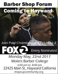 """Barber Shop Forum Coming to Hayward"""" from City of Hayward"""