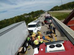 """One Killed in I-65 Crash Near Columbus"""" from Indiana State"""