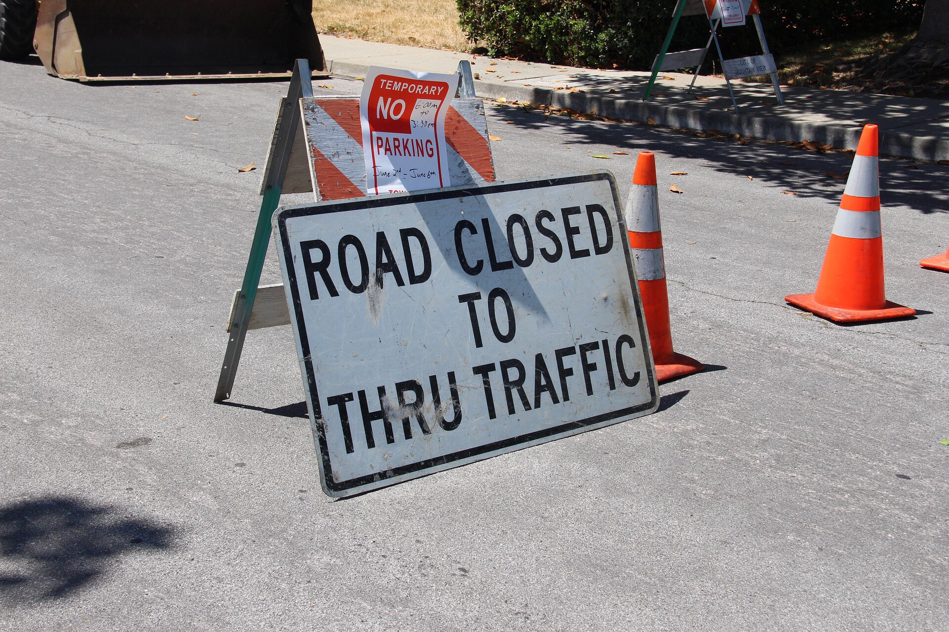 """Gay Ave will be closed between Martha and Canfield """" from"""