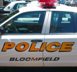 Photograph of Bloomfield Police car.