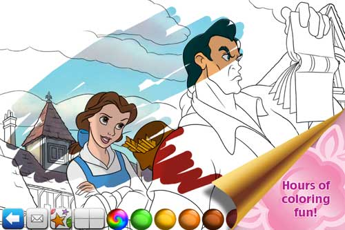 Disney's Beauty and the Beast App Coloring Page