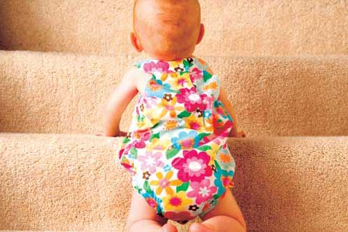Babyproof your home, stairs are dangerous for unattended babies