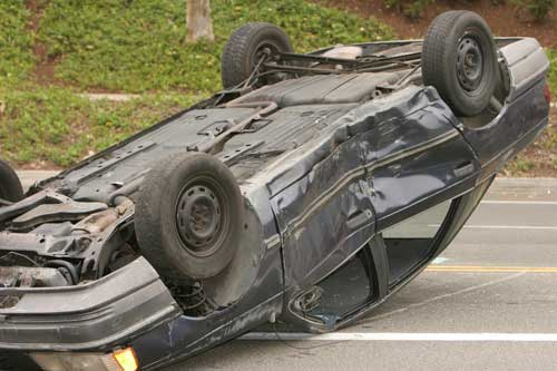 Teen involved in a car accident