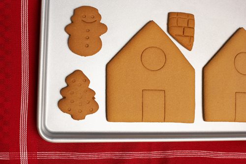 Holiday traditions such as making a gingerbread house