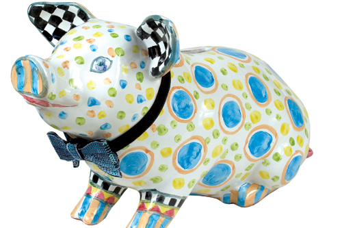pigadilly piggy bank by mackenzie-childs