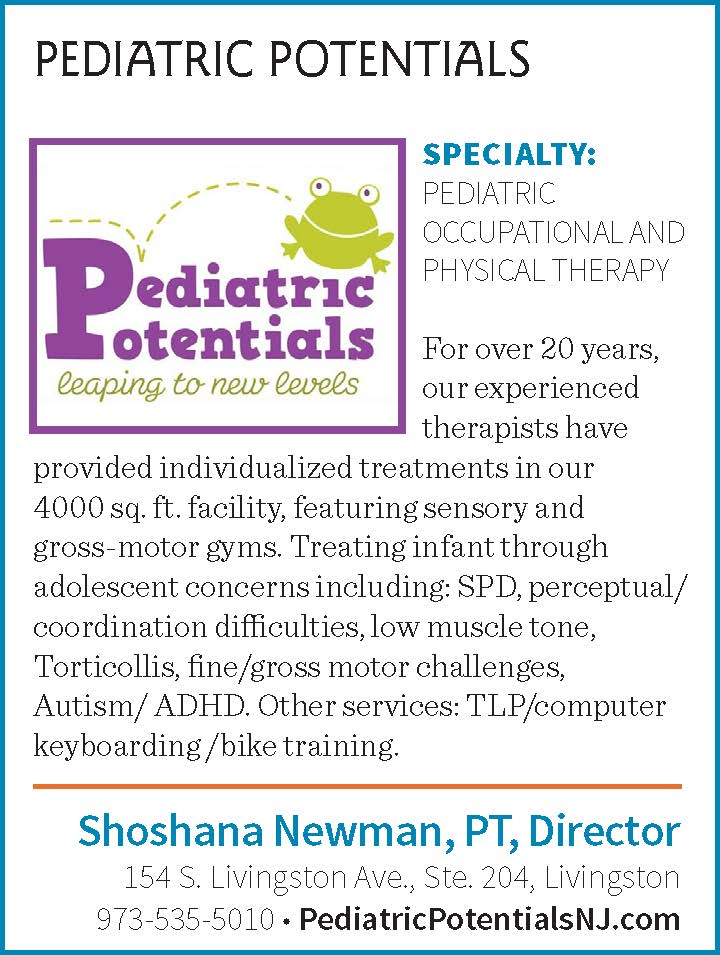 Shoshan Newman, PT Director of Pediatric Potentials