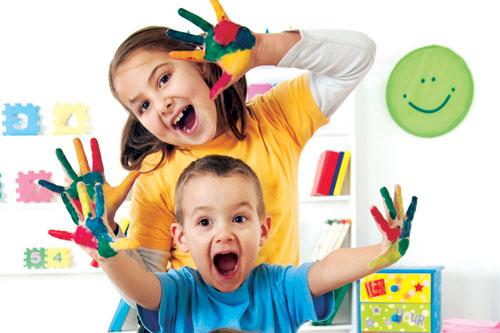 preschoolers playing