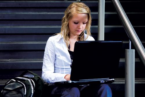 Teen on web