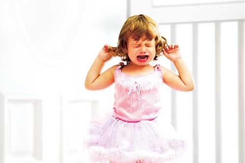 Girl having a temper tantrum