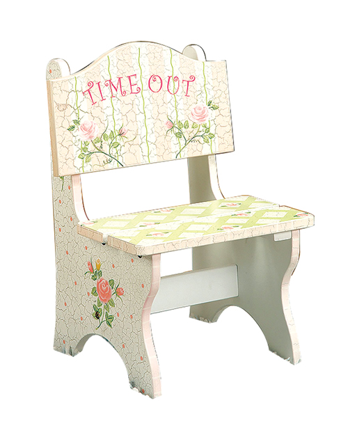teamson crackled rose time out chair by once upon a time