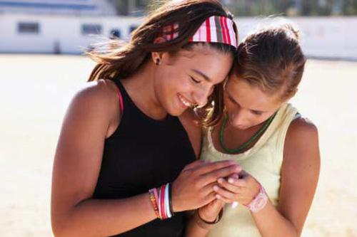 Teen girls sexting on cellphones